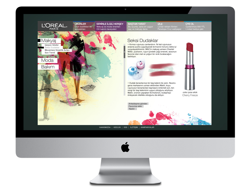 Loreal Paris Webdesign